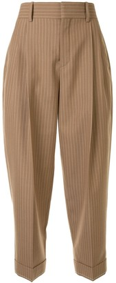 Chloé Pinstripe Cropped Trousers