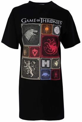 Game Of Thrones Sarcia.Eu Black Short Sleeved Sleepshirt Nightie Nightdress for Ladies Game of Thrones S