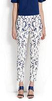 Lands' End Women's Skinny Pants-White Dahlia Multi Stars