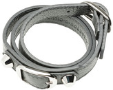 Balenciaga Classic Silver Bracelet Triple Tour