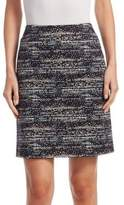Akris Punto Twilight Print Mini Skirt