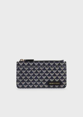 Emporio Armani Card Holder With All-Over Monogram