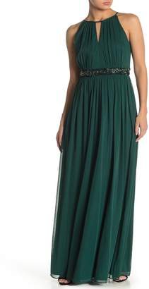 Onyx Nite Halter Neck Gown (Regular & Plus Size)