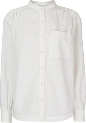 Whistles Textured Gather Detail Shirt