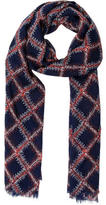 Tory Burch Wool Square Print Scarf