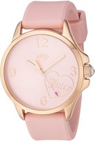 Juicy Couture Women's 'FERGIE' Quartz Gold and Silicone Casual Watch, Color: (Model: 1901575)