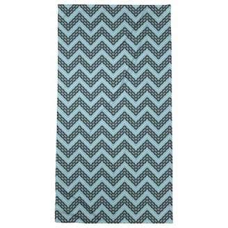 ArtVerse Rhonda Cheval Reverse Color Accent Hand Drawn Chevrons Beach Towel - Poly/Cotton