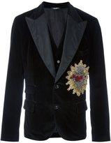 Dolce & Gabbana Sacred Heart velvet dinner jacket