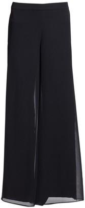 St. John Silk Georgette Wide-Leg Pants