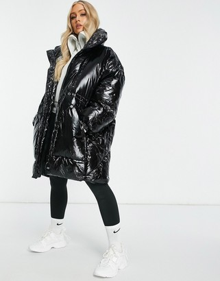 Sixth June oversized puffer jacket in vinyl