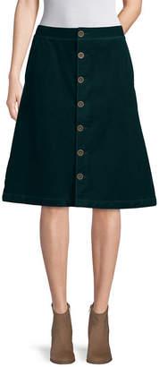 ST. JOHN'S BAY Womens Long A-Line Skirt
