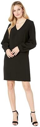 Karen Kane Blouson Sleeve Crepe Dress