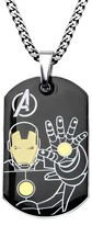 "Iron Man Ironman Men's Marvel® Avengers Ironman Stainless Steel Stainless Steel Dog Tag (24"")"