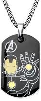 "Iron Man Ironman Men's Marvel® Avengers Ironman Stainless Steel Stainless Steel Dog Tag (24"")"