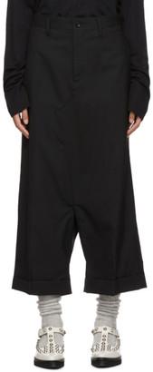 Junya Watanabe Black Drop Crotch Trousers