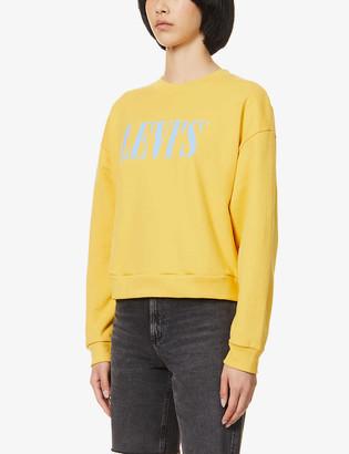 Levi's Diana logo-print cotton-blend jersey sweatshirt