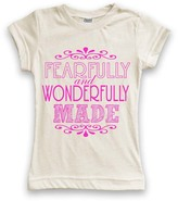 Urban Smalls Cream 'Fearfully and Wonderfully Made' Fitted Tee - Toddler & Girls