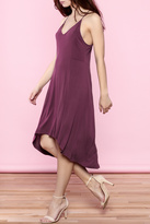 Lush Plum Swing Dress