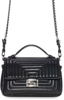 Fendi 'Double Micro' Quilted Leather Baguette - Black