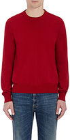 Maison Margiela Men's Elbow-Patch Cotton Sweater-RED