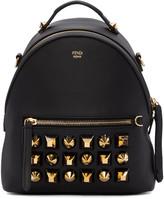 Fendi Black Studded Messenger Backpack