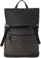 Fendi Striped Canvas & Leather Backpack