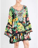 Camilla Call Me Carmen flared silk-georgette dress