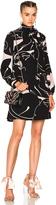 Valentino Printed Long Sleeve Mini Dress