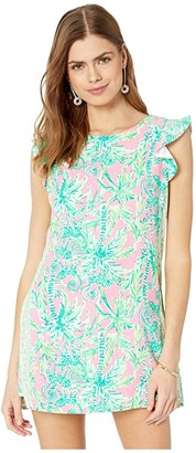 Lilly Pulitzer Adda Romper (Prosecco Pink Hangin Around Engineered) Women's Jumpsuit & Rompers One Piece