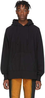 Engineered Garments Black Cotton Fleece Raglan Hoodie