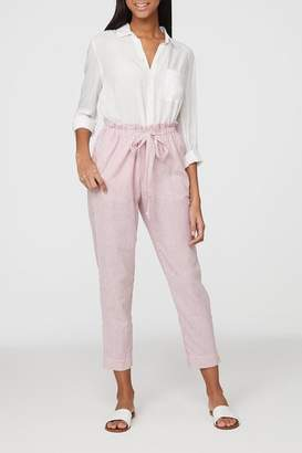BeachLunchLounge Beach Lunch Lounge Striped Linen Pants