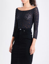 Good American Off-the-shoulder lace-detail body