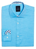 Tailorbyrd Boys' Twill Button-Down Shirt - Big Kid