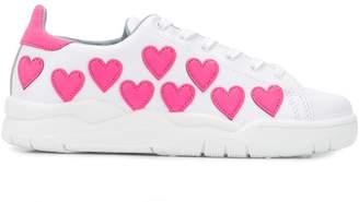 Chiara Ferragni heart patch sneakers
