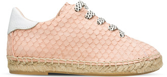 Maison Mangostan - Pale Rose Nubuck Python Shoes - 34 - Pink