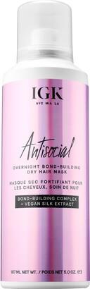 IGK Antisocial Overnight Bond-Building Dry Hair Mask