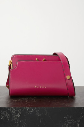 Marni Trunk Reverse Small Leather Shoulder Bag - Pink