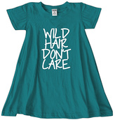 Urban Smalls Peacock 'Wild Hair Don't Care' Swing Dress - Toddler & Girls