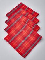 Very Tartan Fabric Christmas Napkins (4 Pack)