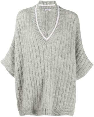Brunello Cucinelli Oversized Ribbed Jumper