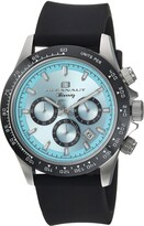 Thumbnail for your product : Oceanaut Men's Biarritz Stainless Steel Quartz Watch with Rubber Strap Black 22.8 (Model: OC6111R)