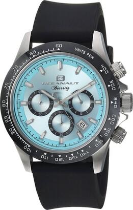 Oceanaut Men's Biarritz Stainless Steel Quartz Watch with Rubber Strap Black 22.8 (Model: OC6111R)