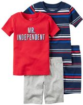 "Carter's Baby Boy Mr. Independent"" Tee & Striped Shorts Pajama Set"