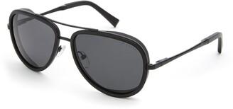 Ted Baker 57mm Polarized Aviator Sunglasses