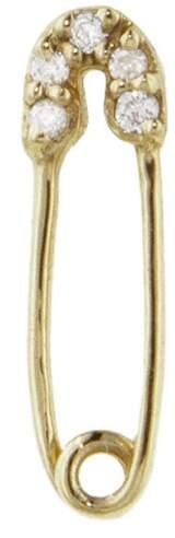 Sydney Evan Safety Pin Stud Earring