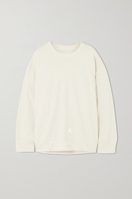 adidas by Stella McCartney Essentials Embroidered Cotton-jersey Sweatshirt - Beige
