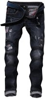 West Bank WB Men's Denim Distressed Hole Ripped Skinny Jeans New Designs Trousers Pants