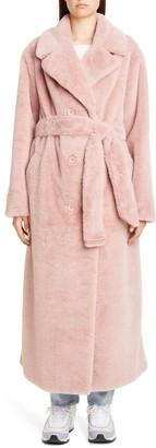 Stand Studio Faustine Long Faux Fur Coat