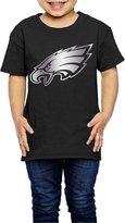 JESKD Little Girls' Philadelphia Eagles Platinum Logo 2-6 Toddler T-Shirt