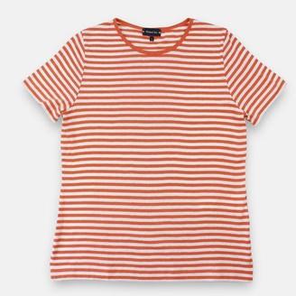 Armor Lux Women Stripe T Shirt White Tangerine - XS
